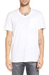 G Star Men's Raw 'Varos' Pocket V Neck T Shirt White
