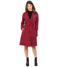 Zac Posen Gretchen Coat Wine Women's Coat Burgundy
