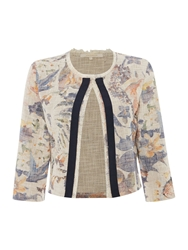 La Fee Maraboutee Floral Print Jacket With 3 4 Sleeves Multi Coloured