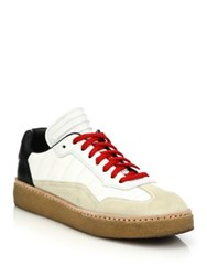 Alexander Wang Eden Leather And Suede Low Top Sneakers Multi