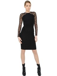 Stella Mccartney Animalier Tulle And Jersey Dress