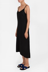 Helmut Lang Cupro Strappy Slip Dress Black