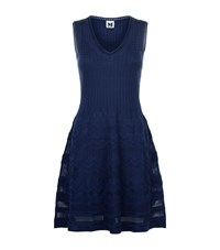 M Missoni Zig Zag Knit Sleeveless Dress Female Blue