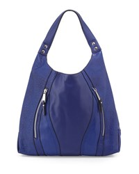 French Connection Ollie Faux Leather Tote Bag Monarch Blue