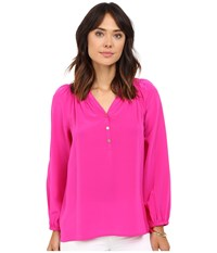 Lilly Pulitzer Elsa Top Magenta Women's Blouse Pink