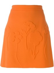 Victoria Beckham Mini A Line Skirt Yellow Orange