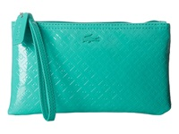 Lacoste L.12.12 Glossy Clutch Bag Porcelain Green Clutch Handbags