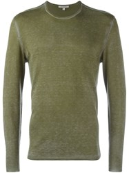 John Varvatos Crew Neck Sweater Green