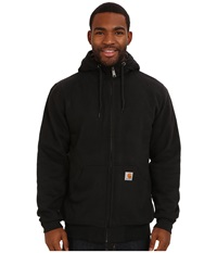 Carhartt Brushed Fleece Sweatshirt Sherpa Lined Black Men's Coat