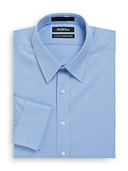 Saks Fifth Avenue Classic Fit French Cuff Dress Shirt Blue