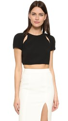 J. Mendel Cutout Crop Top Noir