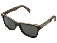 Shwood Canby Stone Collection Polarized Ebony White Slate Inlay Grey Polarized Sport Sunglasses Gray