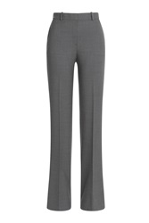 Theory Flared Virgin Wool Pants Grey