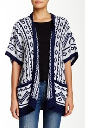 Romeo And Juliet Couture Printed Open Cardigan Gray
