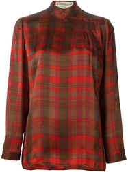 Christian Dior Vintage Checked Blouse