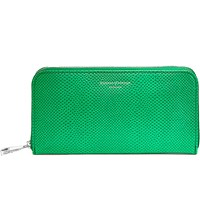 Aspinal Of London Continental Clutch Lizard Embossed Leather Wallet Green