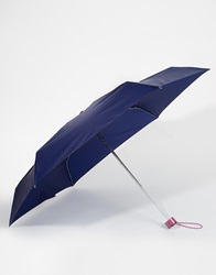 Totes Mini Umbrella Navypink