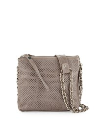 Day And Mood Burke Perforated Leather Crossbody Bag Gray