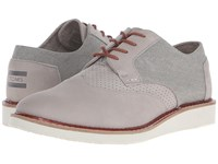 Toms Brogue Taupe Leather Washed Canvas Men's Lace Up Casual Shoes Gray