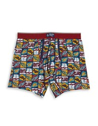 Original Penguin Comic Panel Boxers Medieval Blue
