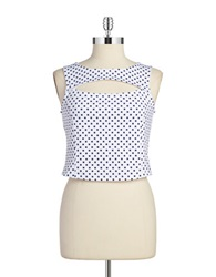 Bb Dakota Polka Dot Crop Top White