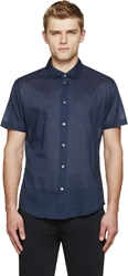 Marc By Marc Jacobs Black And Blue Foulard Shirt