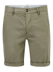 Topman Light Khaki Stretch Skinny Chino Shorts Green