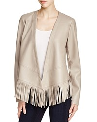 Bernardo Faux Leather Fringe Jacket Compare At 150 Light Taupe