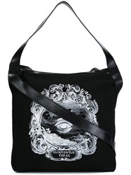 Ann Demeulemeester Printed Medium Tote Black