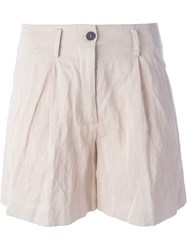 Forte Forte Pleated Shorts Pink And Purple