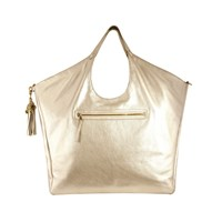 Jlew Bags Platinum Heavyweight Triangle Top Tote Gold