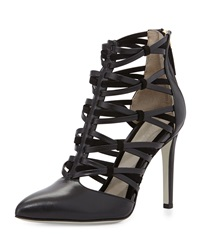 Jason Wu Strappy Leather Ankle Bootie Black