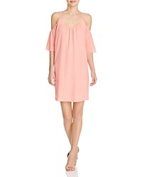 French Connection Polly Plains Cold Shoulder Dress Fizi Pink