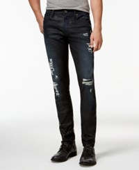 Guess Slim Fit Tapered Destroyed Jeans