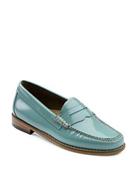 G.H. Bass Whitney Patent Leather Penny Loafers Sky Blue
