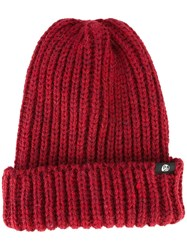Paul Smith Ps By Chunky Knit Beanie Red