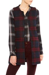Sanctuary Women's Cecilia Plaid Long Vest