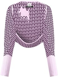 Opening Ceremony Shrug Cardigan Pink Purple