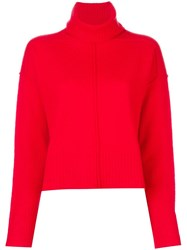 Paul Smith Ps By Exposed Seam Jumper Red