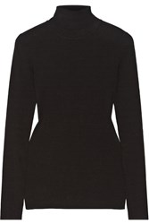 Michael Kors Ribbed Knit Turtleneck Sweater Black