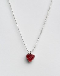 Krystal Swarovski Crystal Heart Pendant Necklace Red
