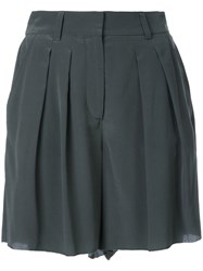 Scanlan Theodore 'Cdc' Pleat Front Shorts Green