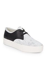Ash Keanu Leather Platform Sneakers White Black