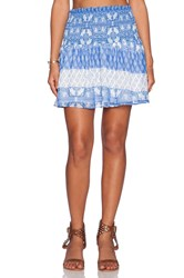 Show Me Your Mumu Gypsy Mini Skirt Blue