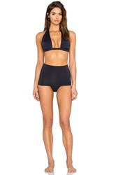 Osklen Twisted High Waist Bikini Set Black
