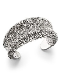 Roberto Coin Sterling Silver Stingray Textured Cuff Bracelet
