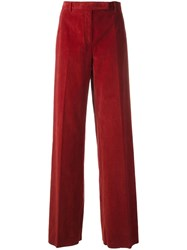 Lardini Wide Straight Trousers Red