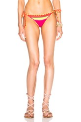 Same Swim Tease Bikini Bottom In Neon Pink