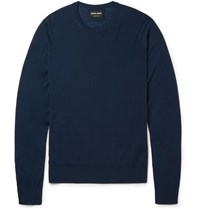 Giorgio Armani Virgin Wool Sweater Petrol