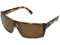 Von Zipper Snark Polarized Tort Satin Bronze Wildlife Polarized Lens Fashion Sunglasses Brown